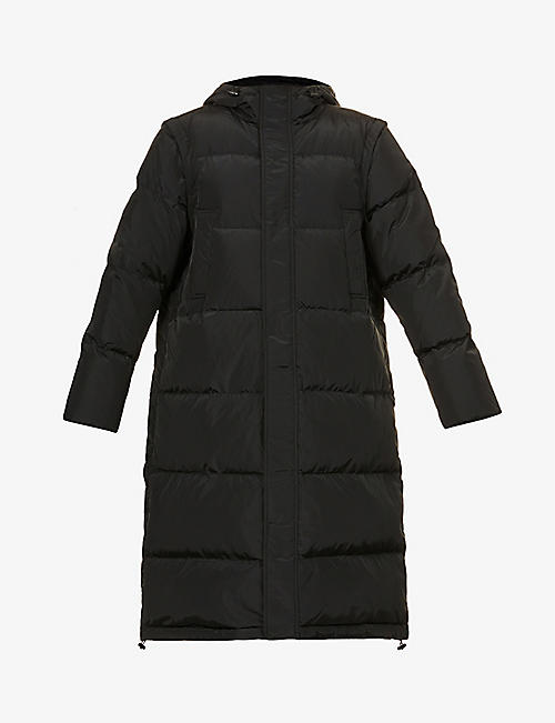 GANNI: Tech hooded shell-down jacket