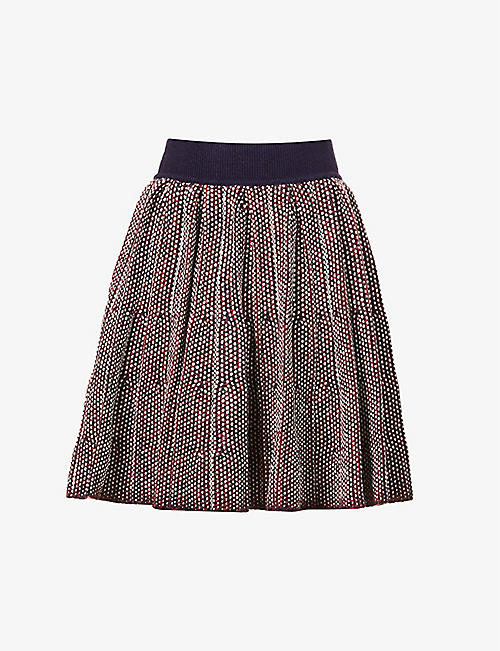 LOEWE: High-waisted wool-blend mini skirt