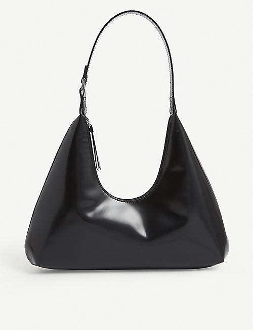 BY FAR: Amber leather shoulder bag