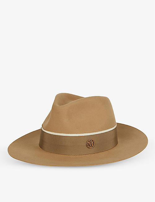 MAISON MICHEL: Rico grosgrain-trim wool hat