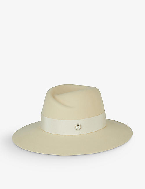 MAISON MICHEL: Virginie wide-brimmed wool trilby hat