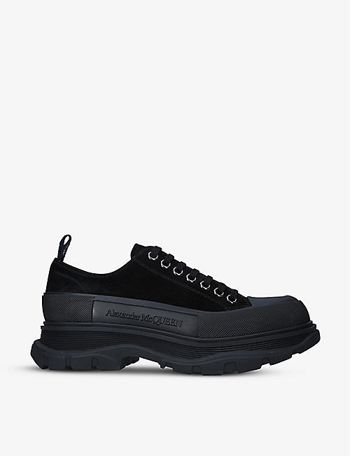 ALEXANDER MCQUEEN: Men's Tread cotton-canvas low-top trainers
