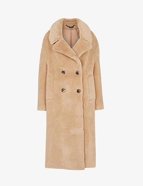 WHISTLES: Teddy double-breasted woven coat