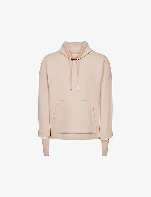 REISS: Julietta funnel-neck cotton-blend sweatshirt