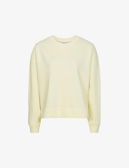REISS: Brooke cropped cotton-blend sweatshirt