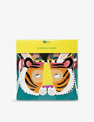 TALKING TABLES: Animal party masks set of eight