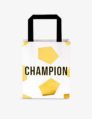 TALKING TABLES: Champion party bags set of six
