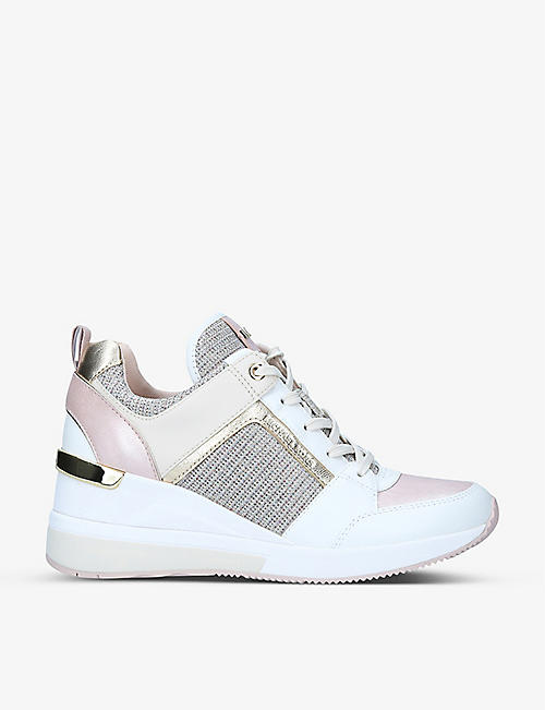 MICHAEL MICHAEL KORS: Georgie leather wedge trainers