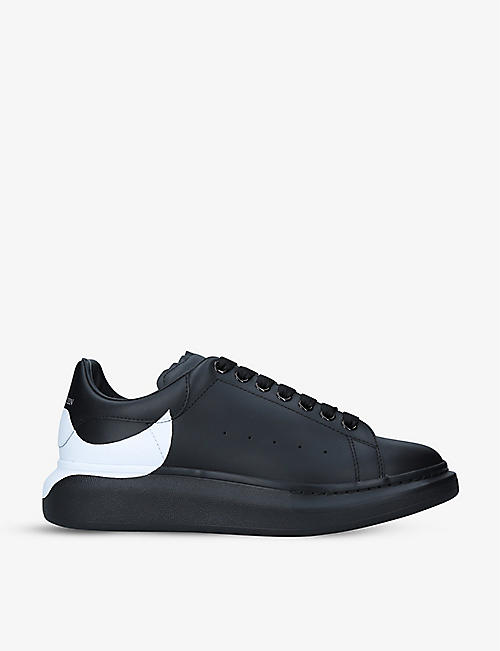 ALEXANDER MCQUEEN: Men's Show leather platform trainers