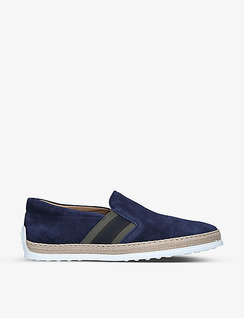 TODS: Pantofola suede loafers