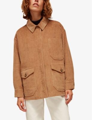 WHISTLES Oversized corduroy jacket