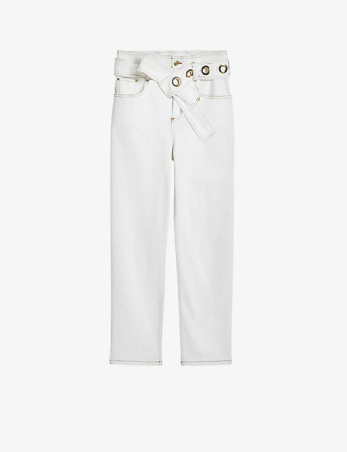 CLAUDIE PIERLOT: Persan straight high-rise jeans