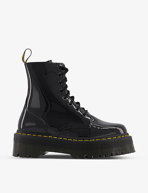 DR. MARTENS: Jadon 8-eye patent leather platform boots