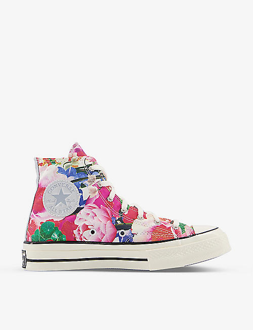 CONVERSE: All Star 70 floral-print canvas high-top trainers