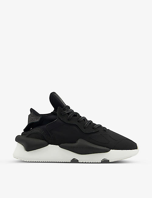 ADIDAS Y3: Kaiwa lace-up woven low-top trainers