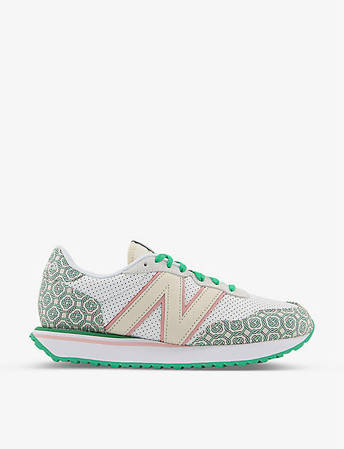 NEW BALANCE: New Balance x Casablanca M327 suede and mesh trainers