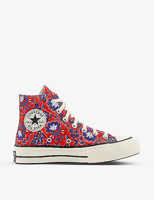 CONVERSE: All Star 70 graphic-print canvas high-top trainers