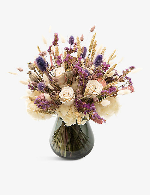 YOUR LONDON FLORIST: Exclusive Can't Help Falling in Love dried arrangement with vase