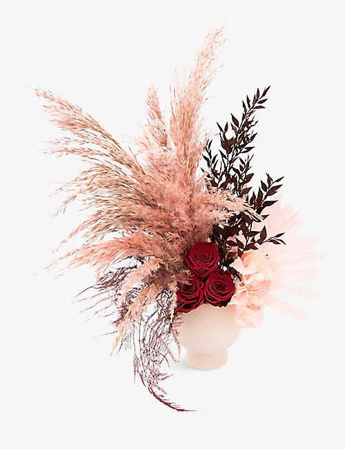 YOUR LONDON FLORIST: Exclusive Kiss from a Rose dried arrangement with pot