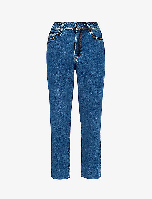 WHISTLES: Authentic slim-leg high-rise cropped jeans