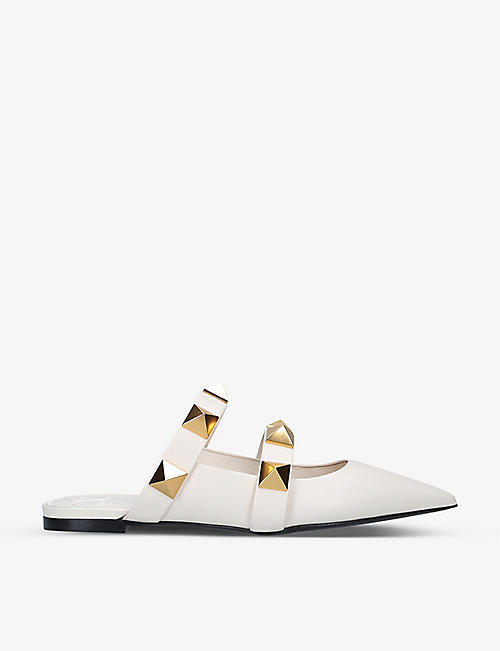 VALENTINO GARAVANI: Oversized Rockstud leather mules
