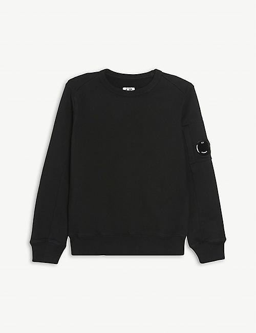 CP COMPANY: Lens-embellished cotton sweatshirt 4-14 years