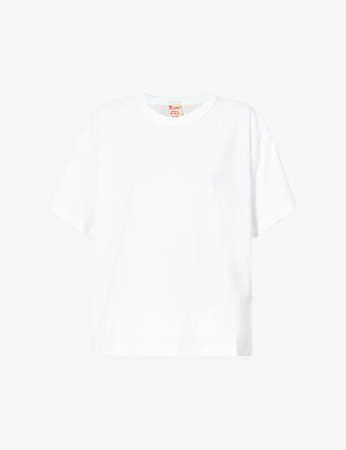CHAMPION: Logo-branded relaxed-fit cotton shell-blend T-shirt