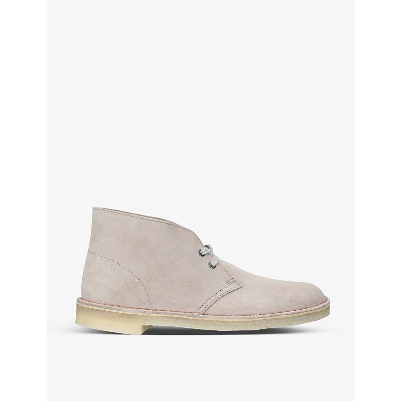 Clarks Originals Boots DESERT BOOT LOGO-EMBOSSED SUEDE BOOTS
