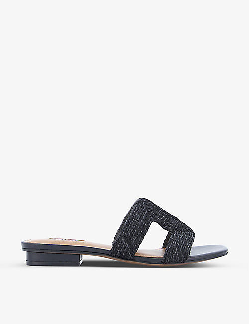 DUNE: Loupe cut-out woven sandals