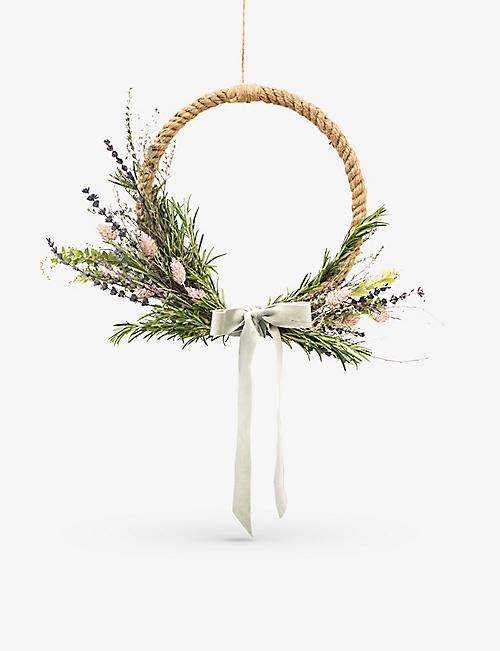 YOUR LONDON FLORIST: Scented Half Moon wreath