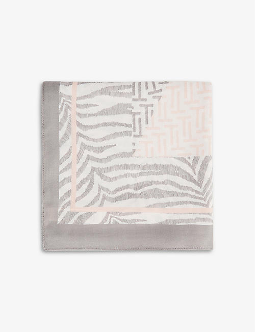 TED BAKER: Tedstone animal-print woven scarf