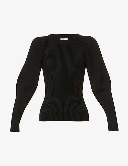 ANINE BING: Rowan puffed-sleeve wool jumper