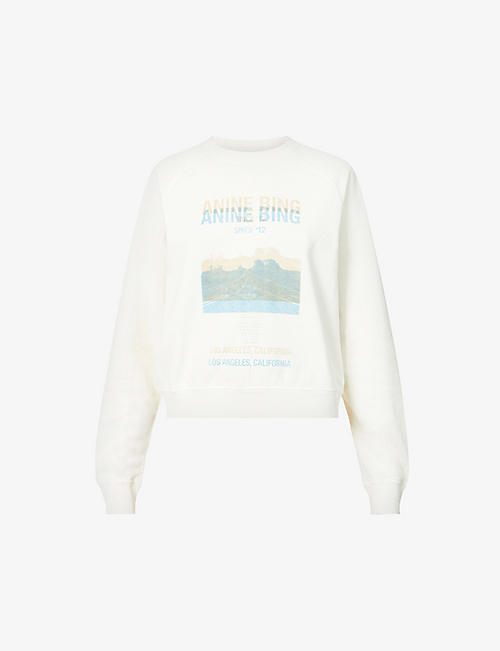 ANINE BING: Arlo desert road-print organic and recycled cotton-blend sweatshirt
