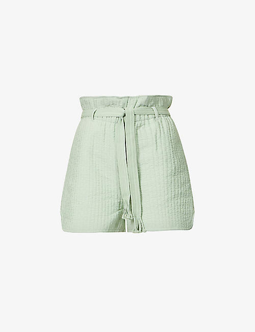 SAMSOE SAMSOE: Ember high-rise recycled polyester-blend shorts
