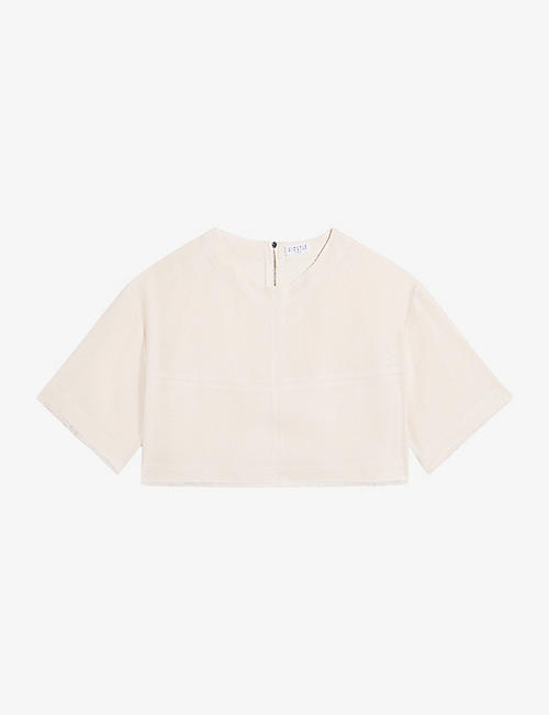 CLAUDIE PIERLOT: Blandine cropped woven top