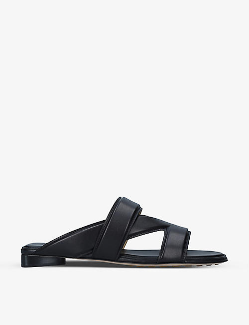 BOTTEGA VENETA: The Band cross-over leather sandals