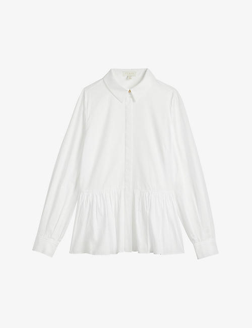 TED BAKER: Cannan oversized cotton shirt