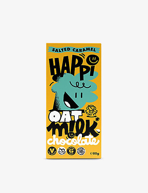 CHOCOLATE: Happi Salted Caramel Oat M!lk chocolate bar 80g