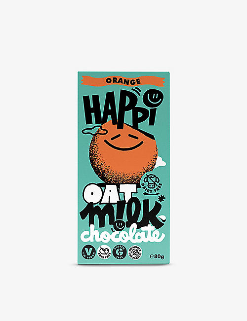CHOCOLATE: Happi Orange Oat M!lk Chocolate Bar 80g