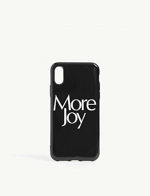 MORE JOY: Slogan-print silicone iPhone X case