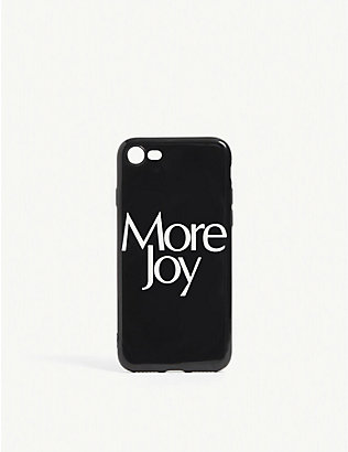 MORE JOY: Slogan-print silicone iPhone 8 case