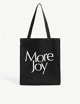 MORE JOY: More Joy-print canvas tote bag