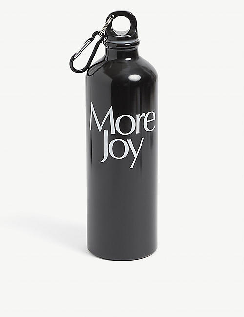 MORE JOY: More Joy brand-print aluminium water bottle