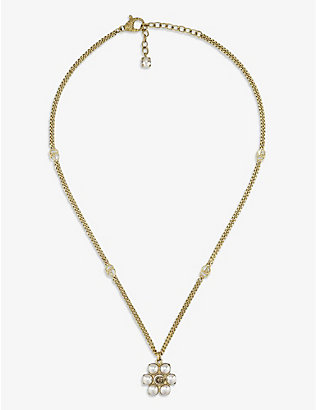 GUCCI: GG Marmont faux-pearl necklace
