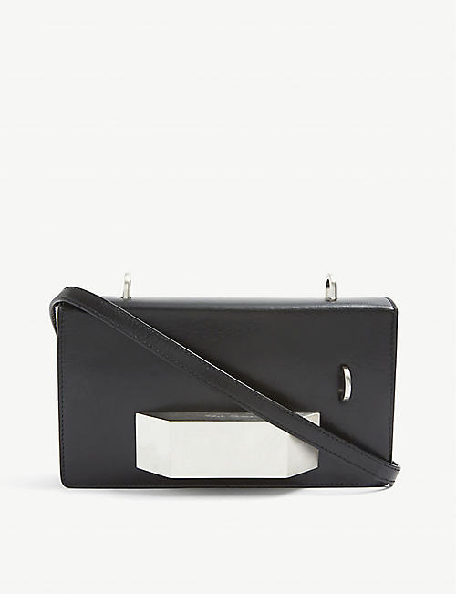 RICK OWENS: Griffin embellished small leather shoulder bag