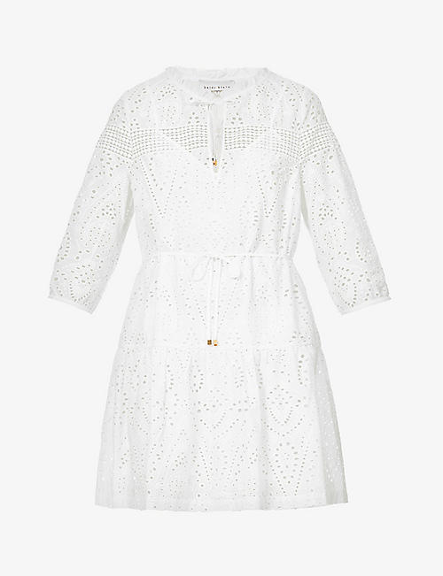 HEIDI KLEIN: Solta embroidered cotton kaftan