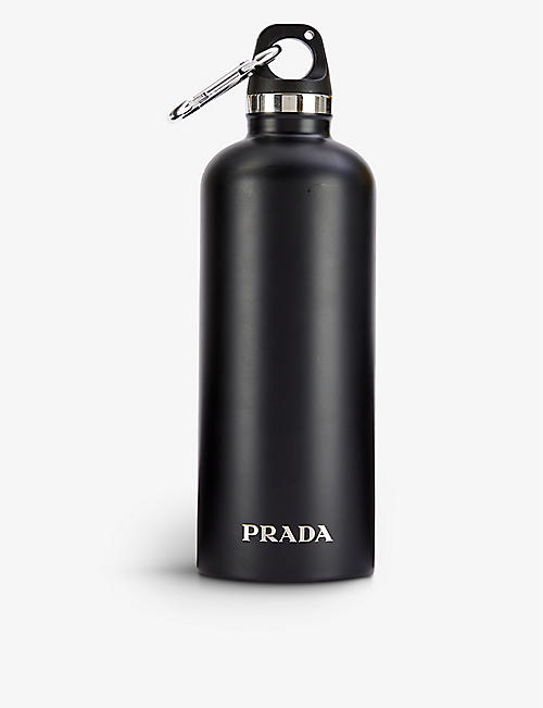 PRADA: Logo-print steel water bottle
