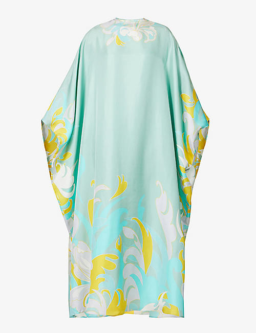 EMILIO PUCCI: Abstract print silk kaftan