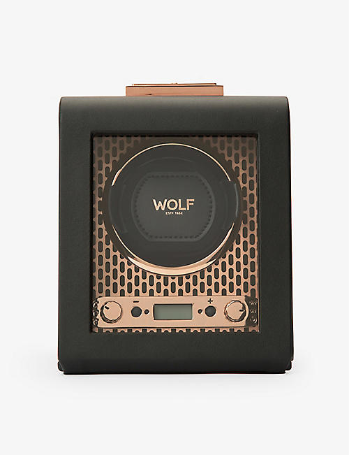 THE ALKEMISTRY: WOLF Axis leather single watch winder