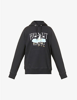 HELMUT LANG: Ocean graphic-print cotton-jersey hoody